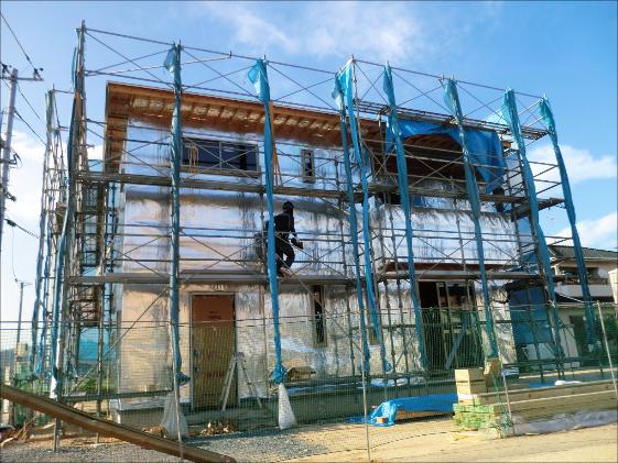 一般住宅で「屋根」+「壁」で施工実施