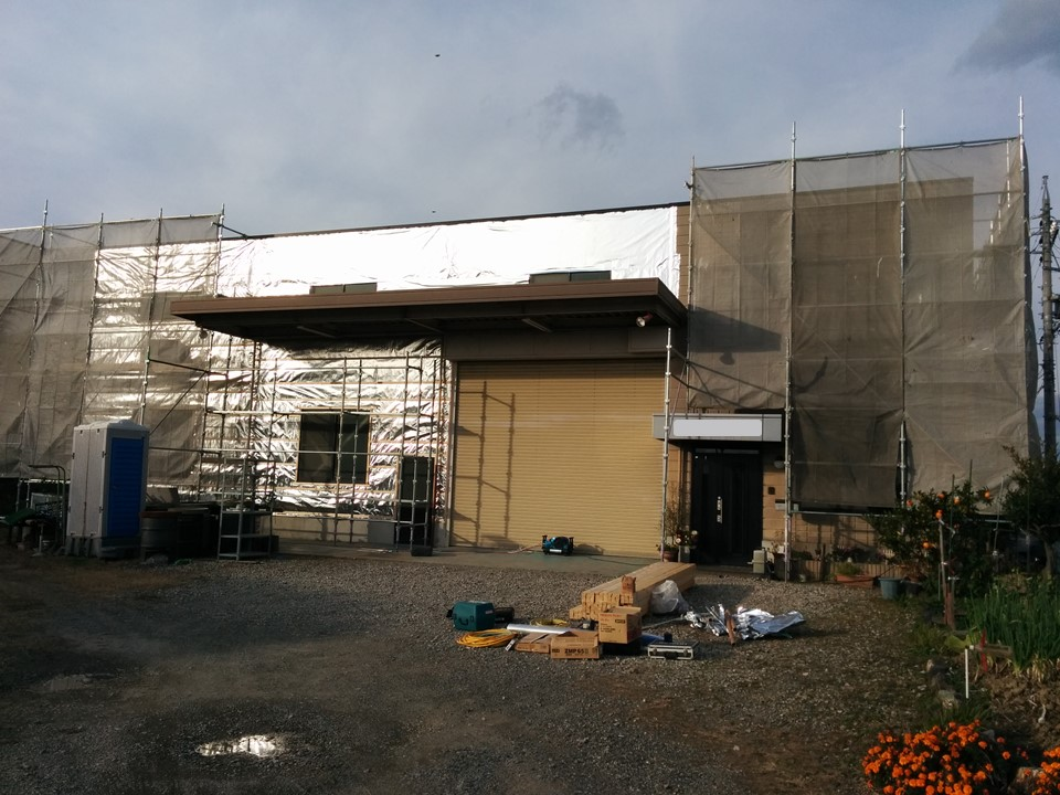 鉄工所の外壁リフォームでスリム採用