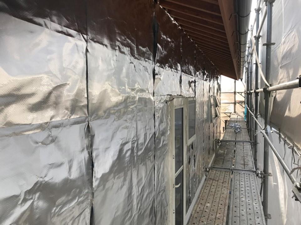 外壁からの遮熱対策にサーモバリア