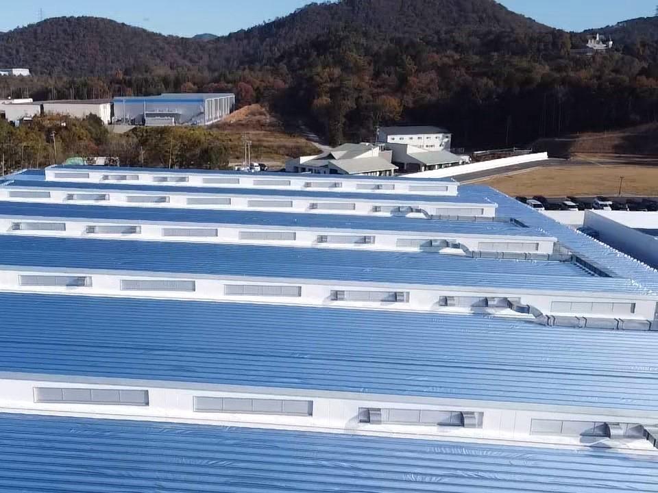 新設工場・倉庫、約14,000㎡にスカイ工法