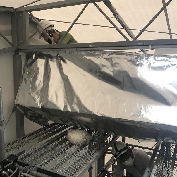 テント倉庫でフィット工法